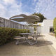 contemporary table and chair set / ipe / aluminum / outdoor