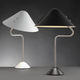 table lamp / contemporary / painted aluminum / brushed stainless steel