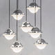 pendant lamp / contemporary / steel / acrylic