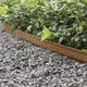 garden edge / COR-TEN® steel / galvanized steel / linear