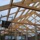 wooden roof framing / glulam / prefab
