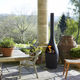 wood-burning fireplace / contemporary / open hearth / free-standing