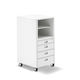 metal office unit / 4-drawer / on casters / key type