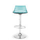 contemporary bar stool / acrylic / adjustable-height / with footrest