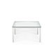 contemporary coffee table / glass / metal base / square
