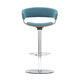 contemporary bar stool / beech / metal / fabric