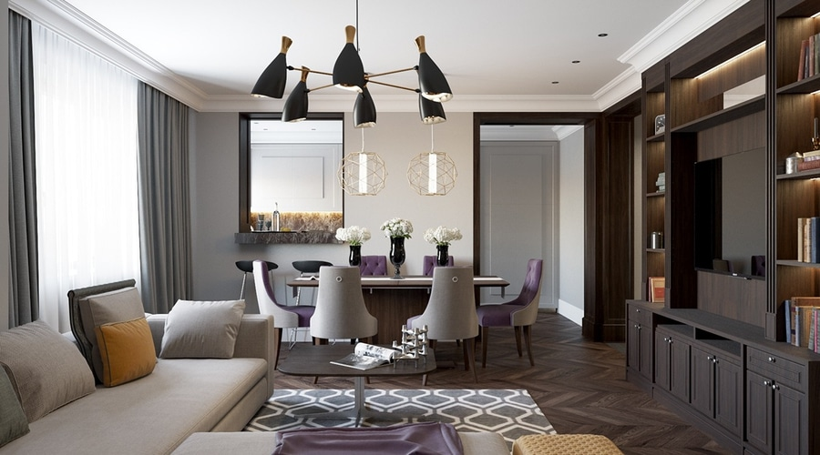 2 Beautiful Home Interiors In Art Deco Style Ukraine