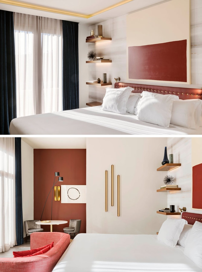 Bedroom Design Idea Replace A Bedside Table And Lamp With Floating Shelves Hidden Lighting