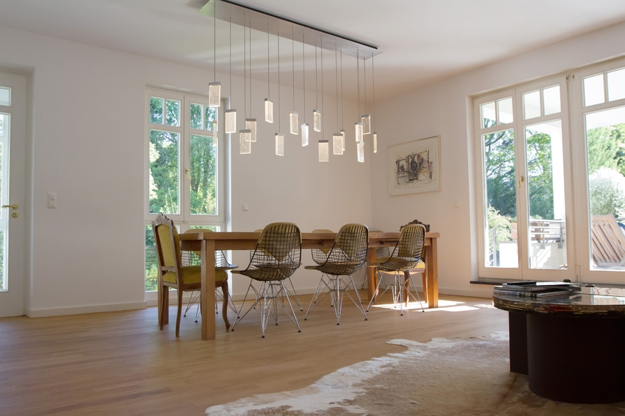 Canopy With 17 Grand Cru Pendants For The Living Room Table Berlin Germany Massifcentral