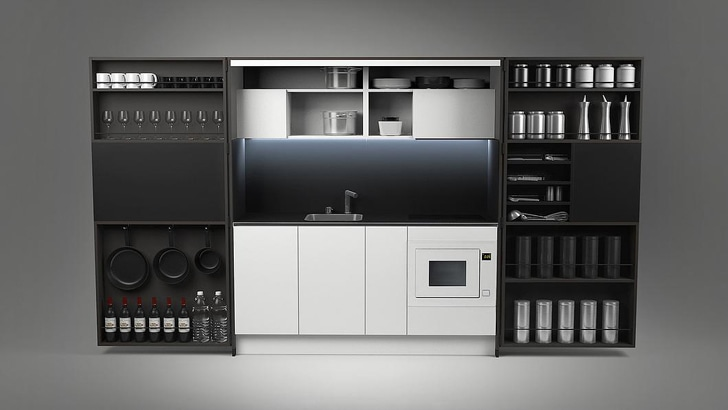 Dizzconcept S Full Sized Gourmet Pia Kitchen Fits In A Cabinet And Takes Up Just 16