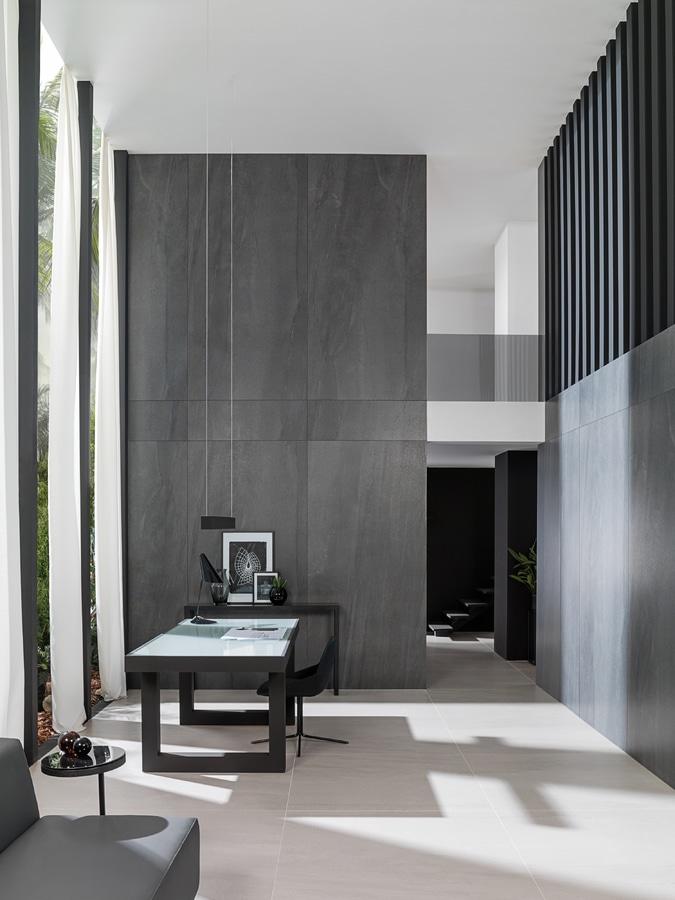 Double Heights The Importance Of Textures In Interior Design Villarreal Castellon Spain Urbatek Porcelanosa Grupo