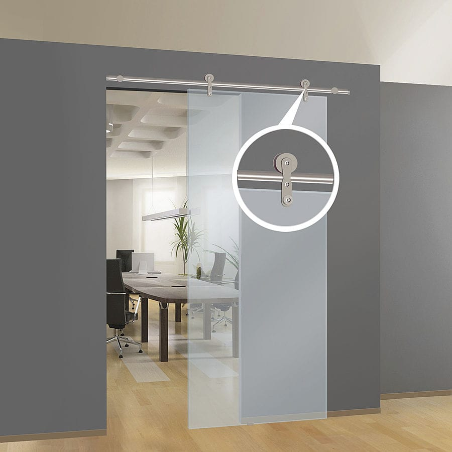Porte Coulissante En Verre En Applique kit kristal for surface mounted sliding glass doors - protek