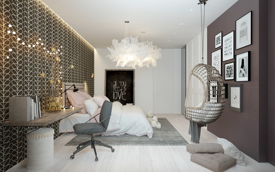 A Pair Of Childrens Bedrooms With Sophisticated Themes - Russia