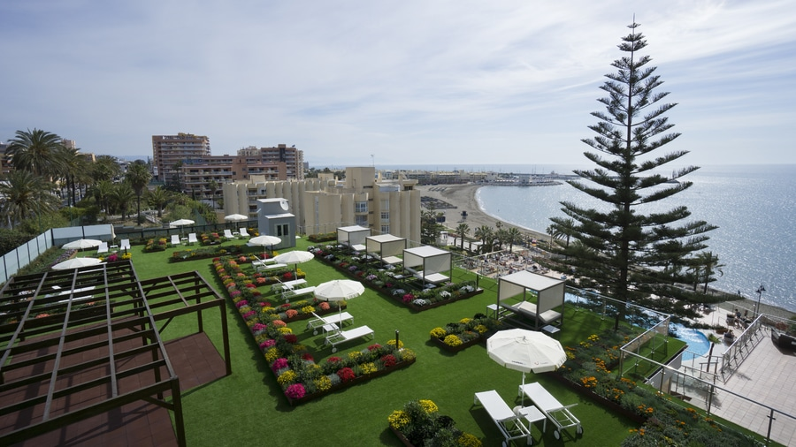 Riviera Hotel Terrace Garden Benalmadena Malaga Spain Igniagreen