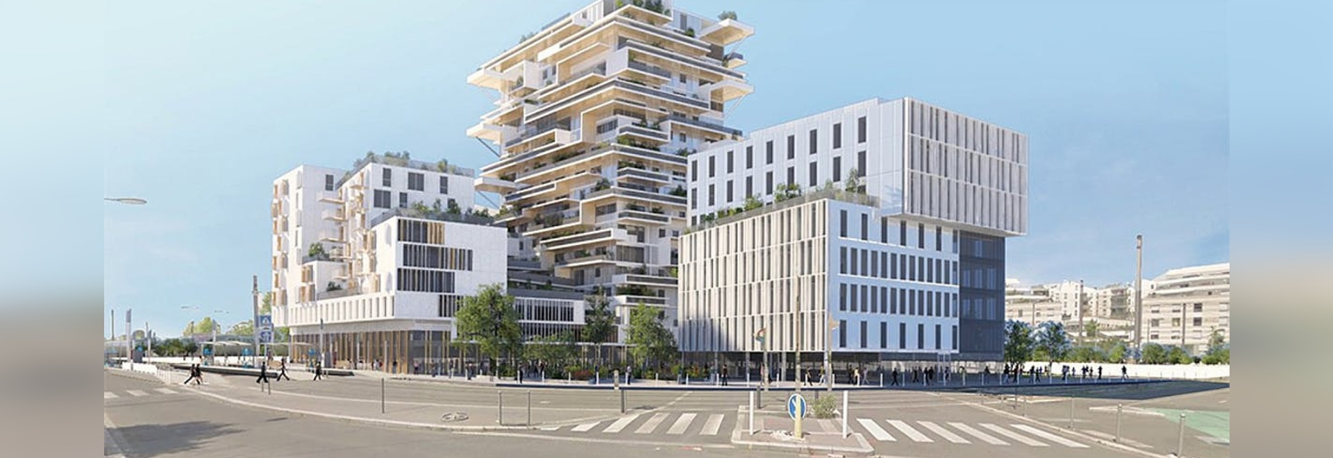 The 18-story wooden residential high-rise Tour Hypérion designed by Jean-Paul Viguier & Associés was announced for the city of Bordeaux in 2016 as France's first timber tower. The model project is ...