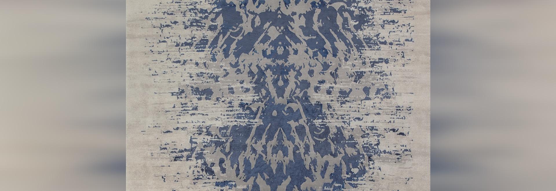 Abaya Indigo - Edition Bougainville contemporary rug
