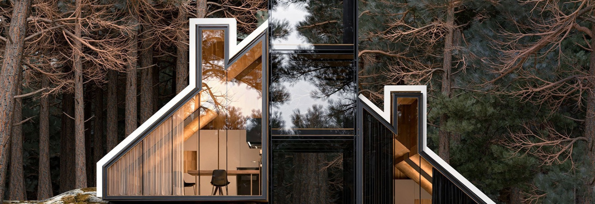 alex nerovnya's YORK house provides a sense of connection with the wild environment