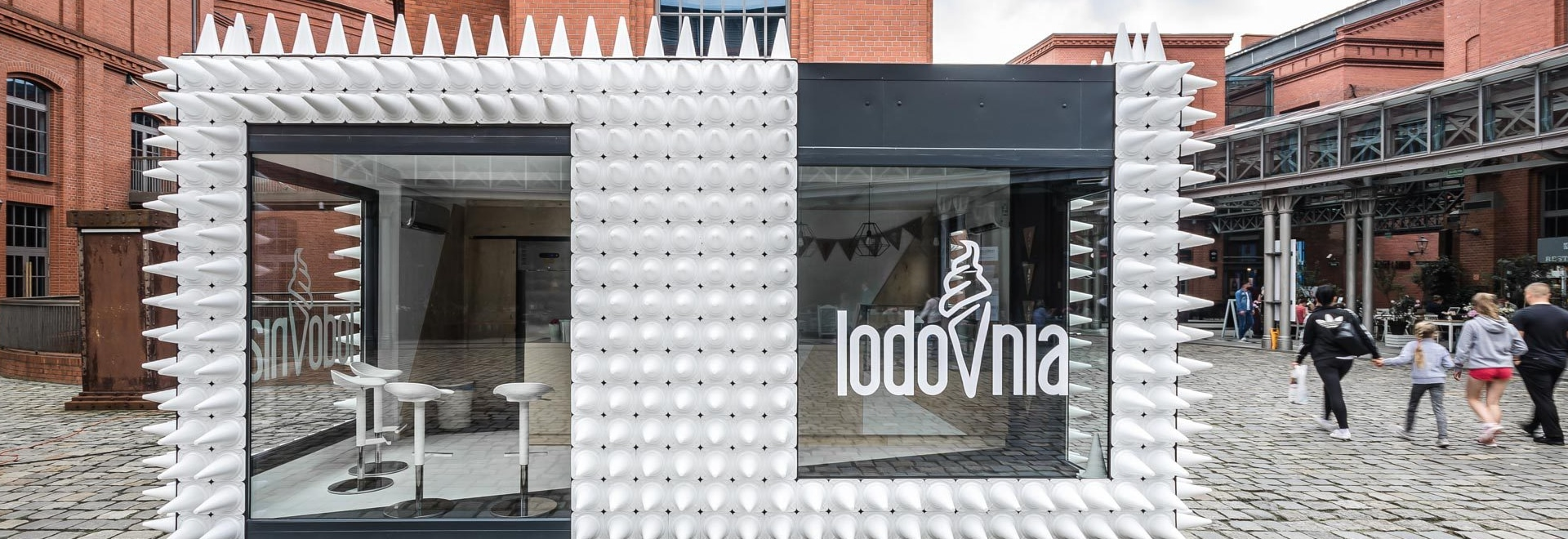 Almost 1,000 Cones Cover This Ice Cream Shop In Poland