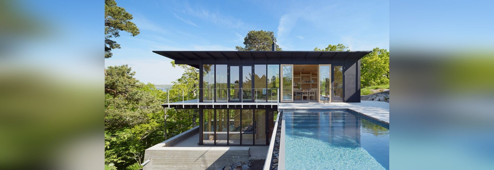 andreas martin-löf's country retreat overlooks stockholm's archipelago