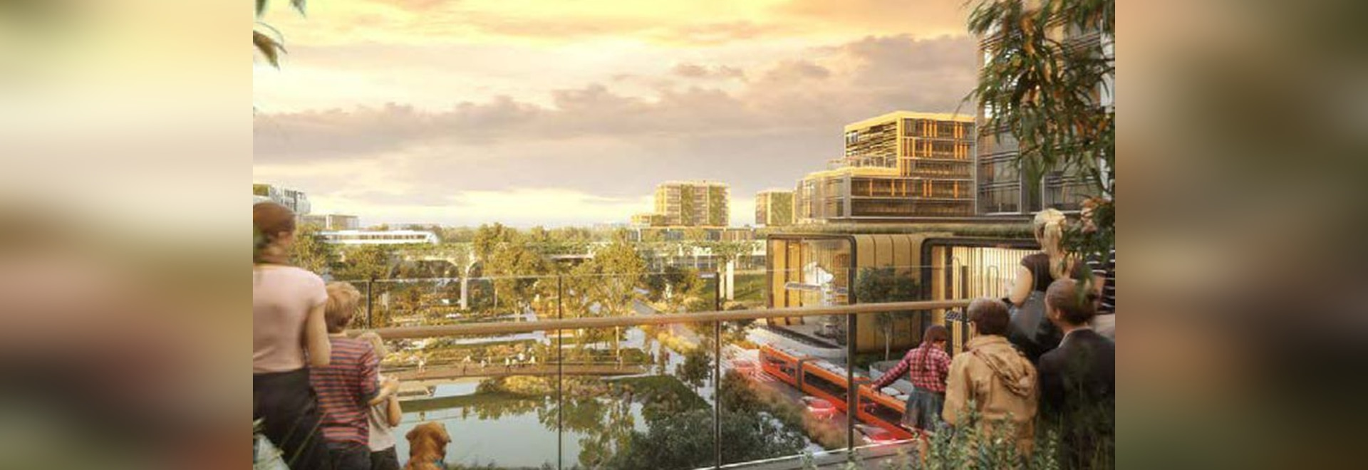 Artist's Impression of the Aerotropolis Core centre.