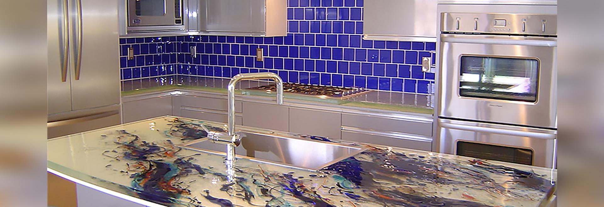 Artistic Kitchen Island