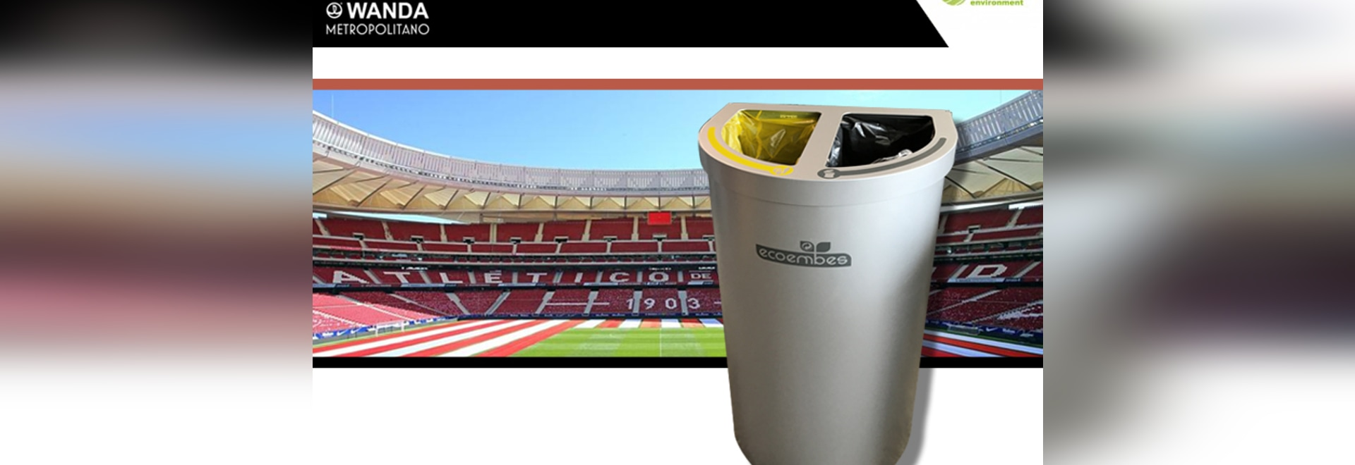 Atletico de Madrid signs the recycling bin Nice Multiwaste of Cervic Environment
