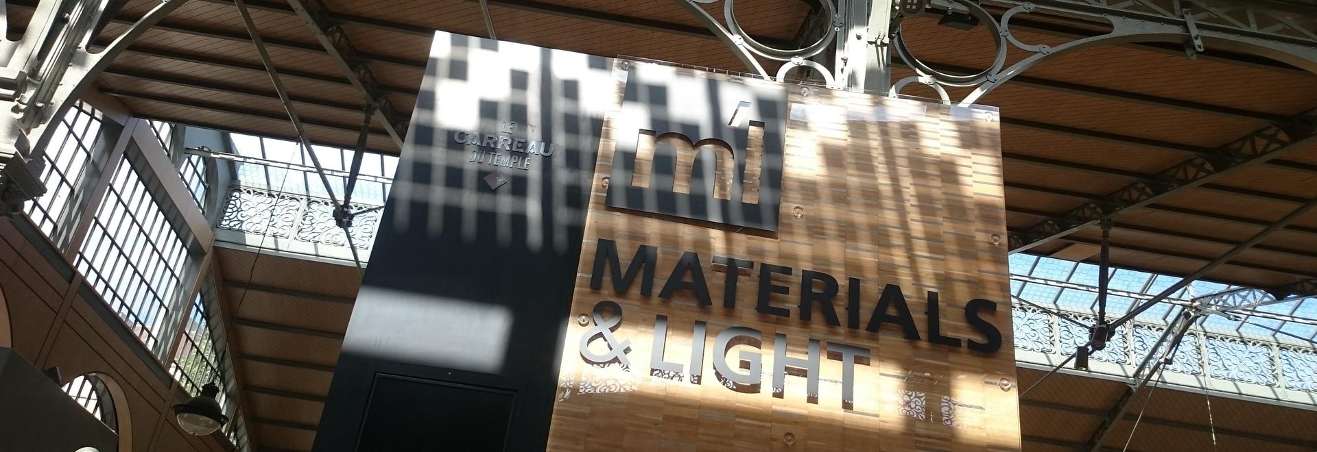 Aubrilam at the Materials & Light exhibition