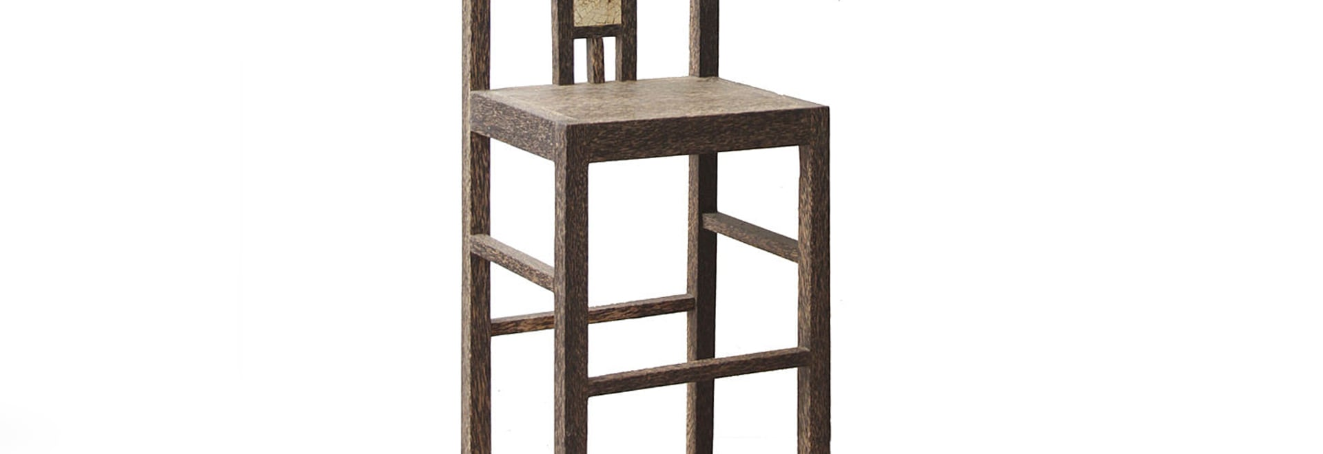 BAR STOOL WITH MOSAIC INLAY