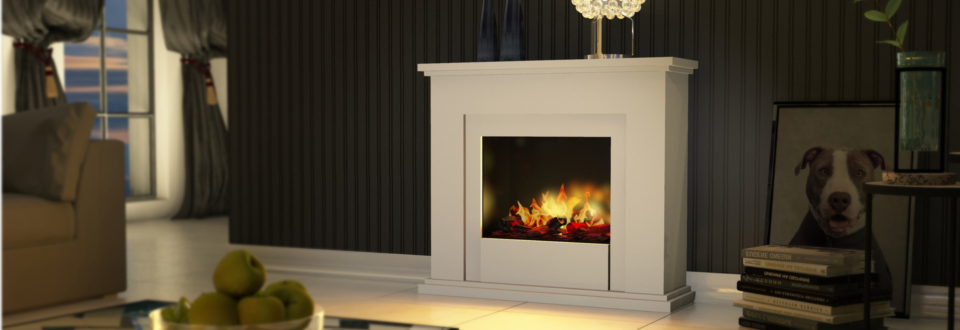 Bergamo Genua Opti Myst Electric Fireplace Rhonstrasse 5 36132 Eiterfeld Germany Muenkel Design