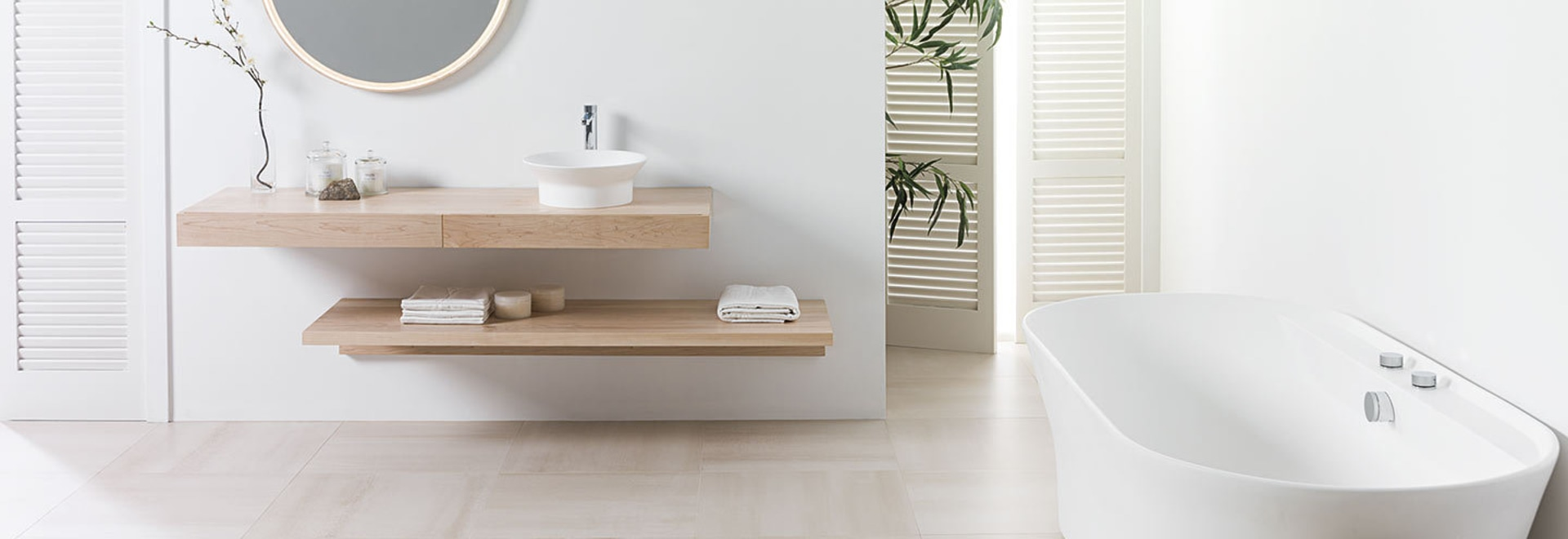 Bringing minimalist harmony to bathrooms