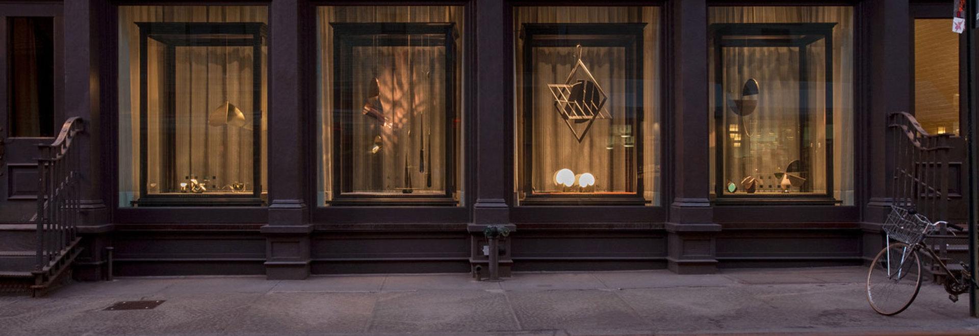 Brooklyn-based designer Karl Zahn is showcasing an assortment of new work in the shopfront of custom hardware manufacturer E.R. Butler & Co in New York