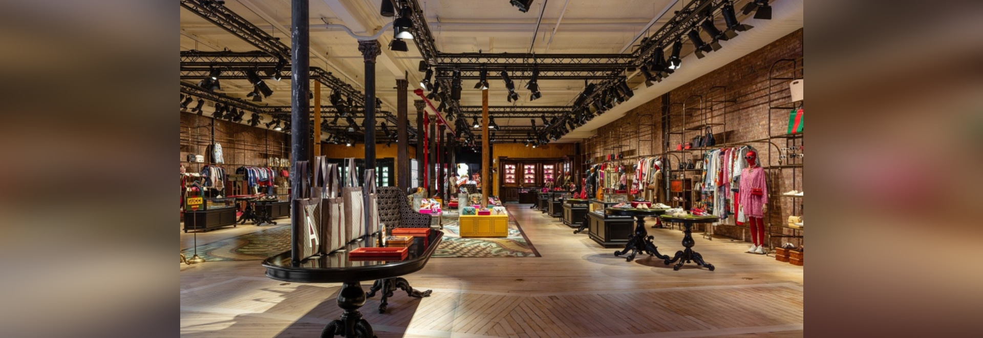 CASTRO WOOD FLOORS AT GUCCI STORES