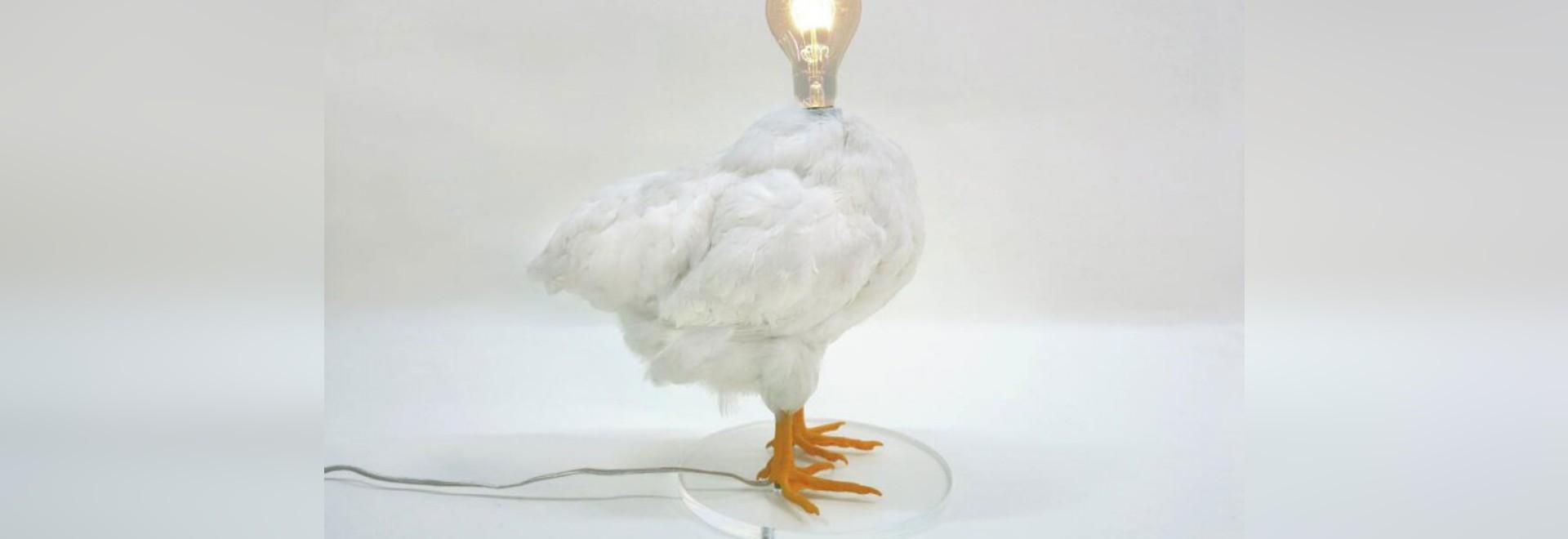 CHICKEN LAMP BY SEBASTIAN ERRAZURIZ