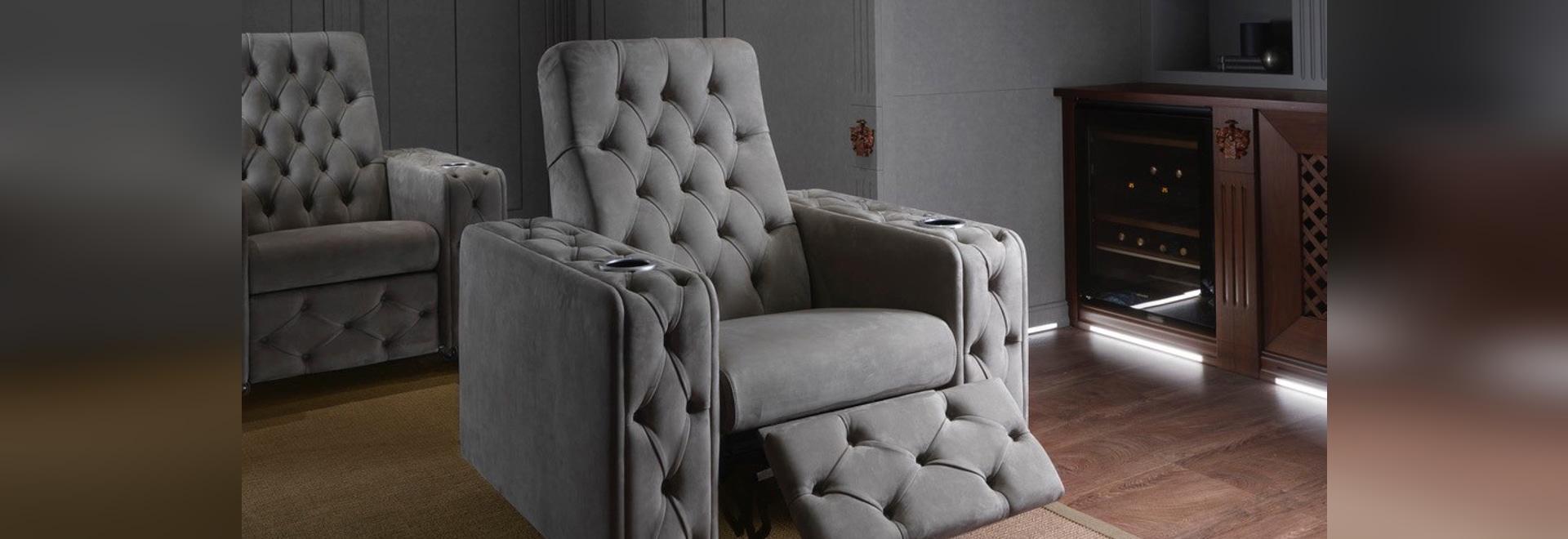 Cinema: reclining motorized armchair