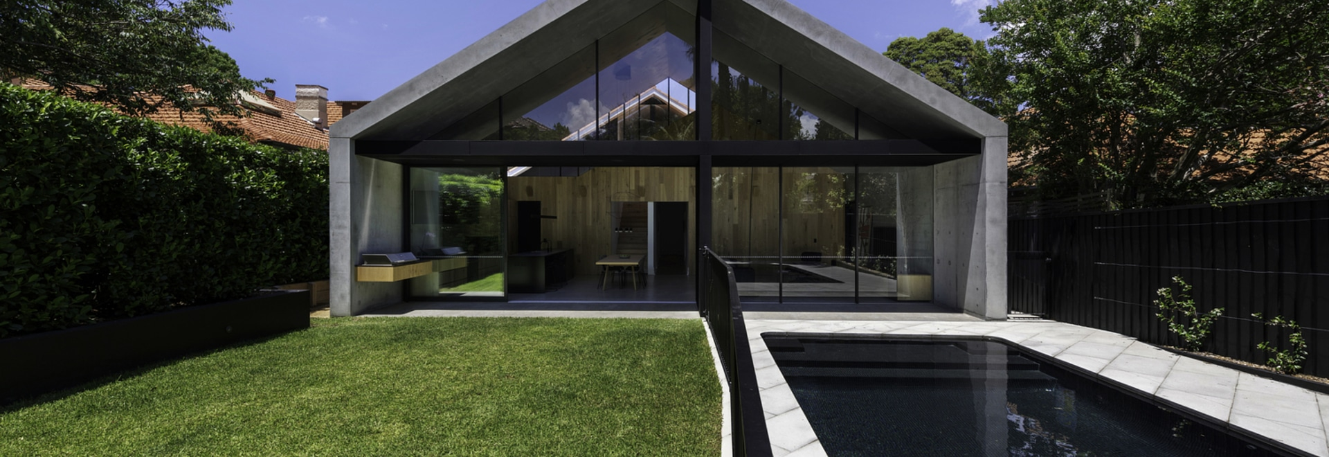 A Contemporary Concrete Extension Provided More Living Space For This Home