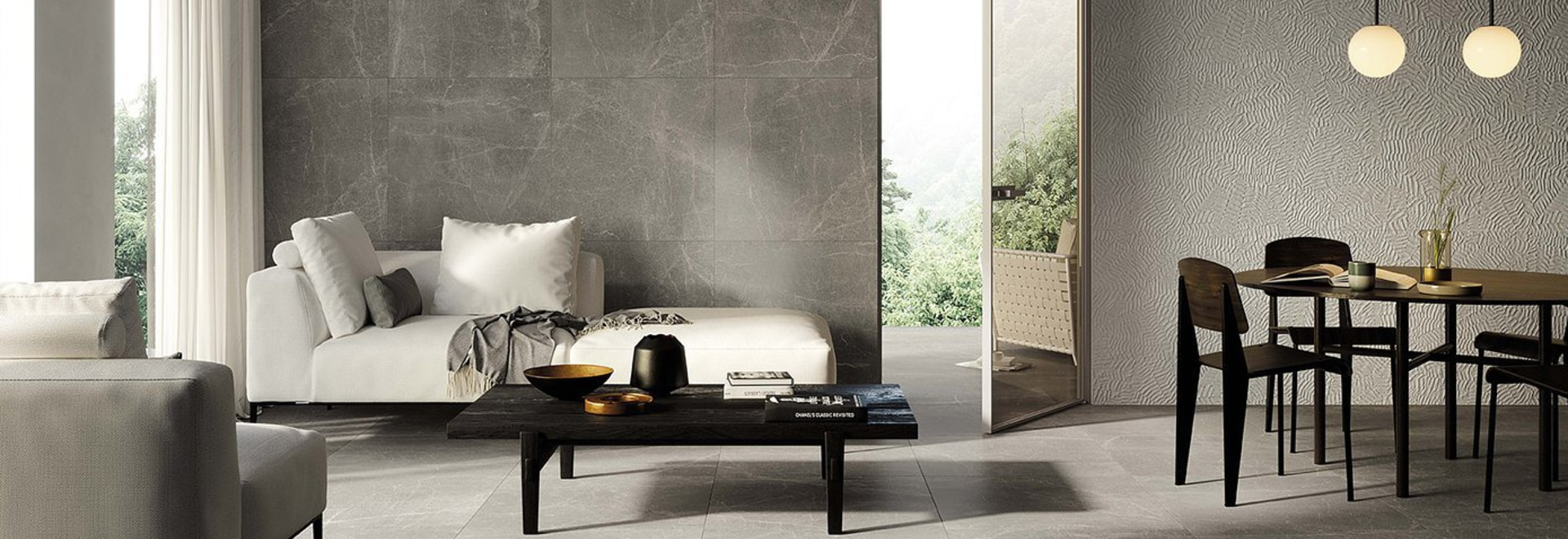 The contemporary stone that turns the power of nature  into porcelain stoneware.