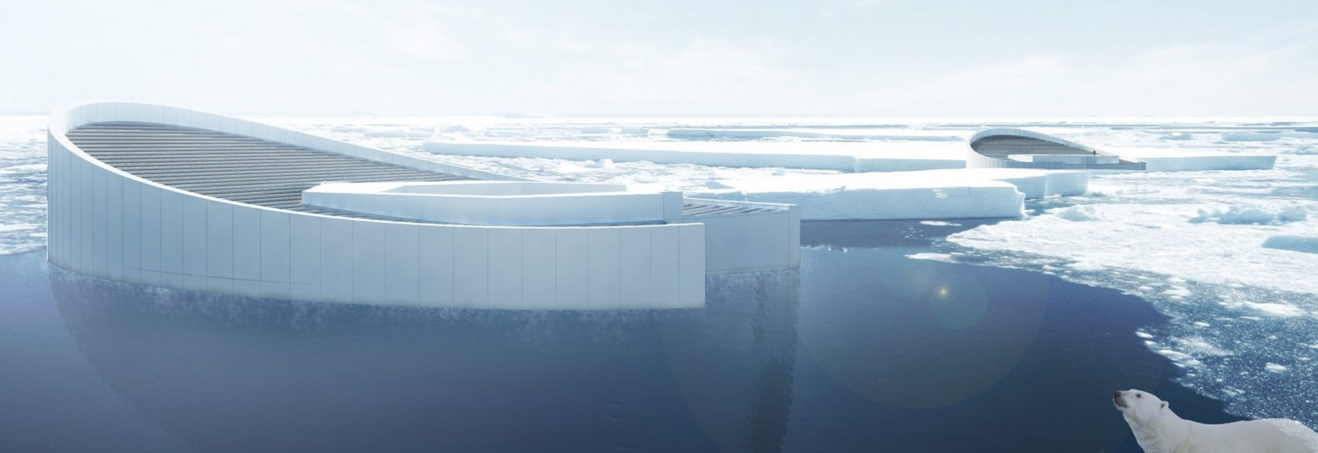 The designers propose a series of submarine-like vessels to create miniature icebergs