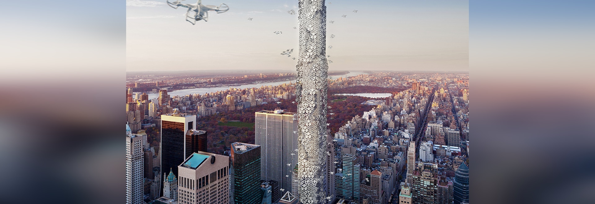 drone skyscraper allows unmanned aerial vehicles to dock in the center of manhattan