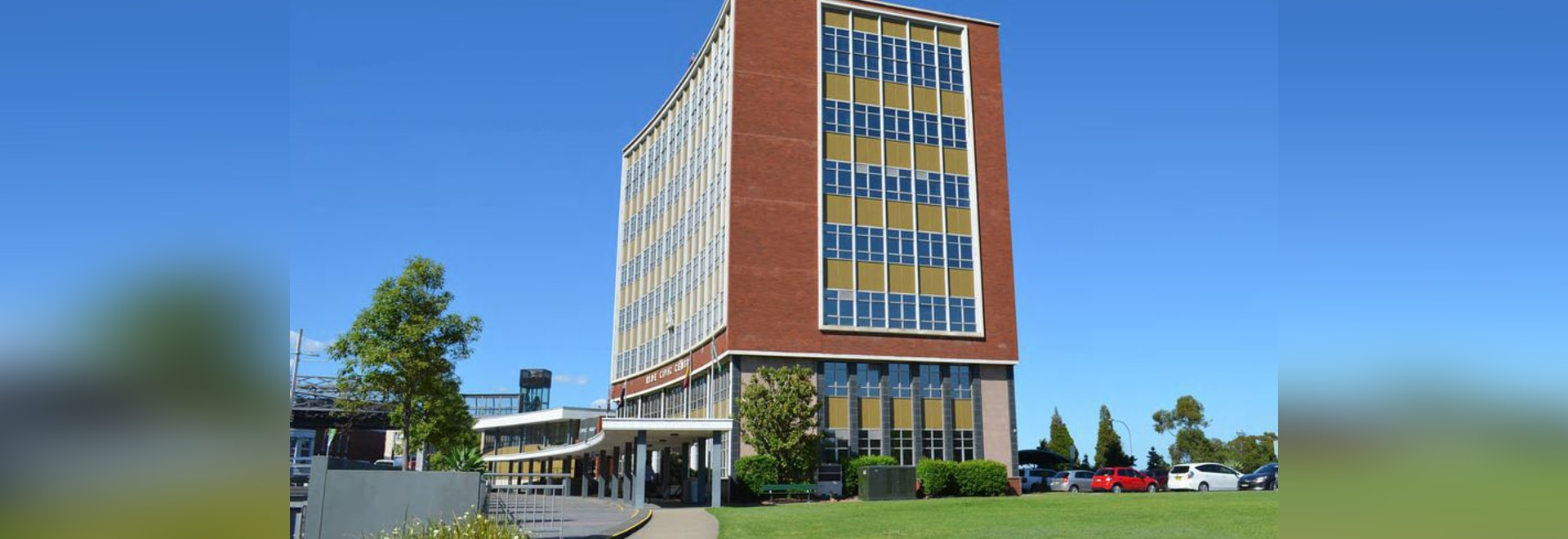 The existing Ryde Civic Centre by Leslie J. Buckland and C. Druce.