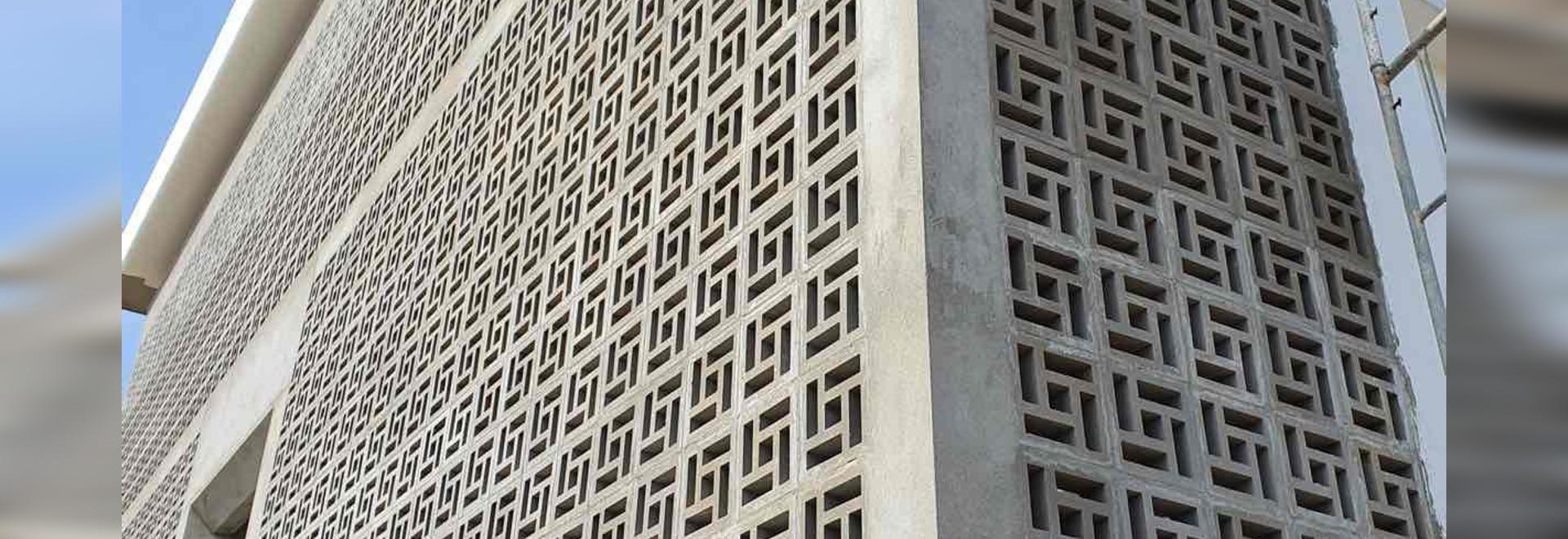 External Wall by Breeze Block