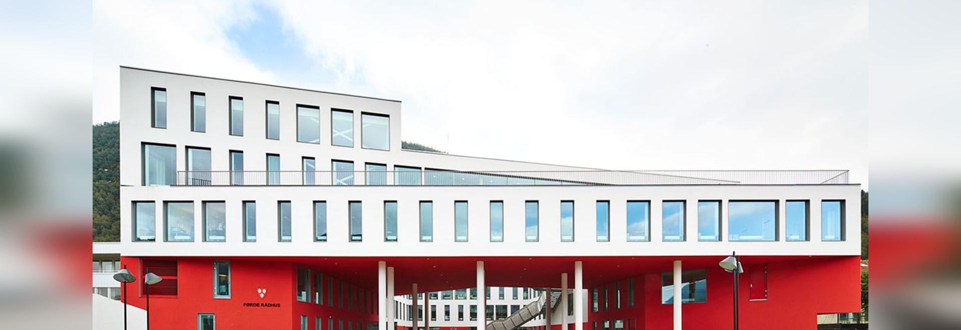 Førde city hall and plaza
