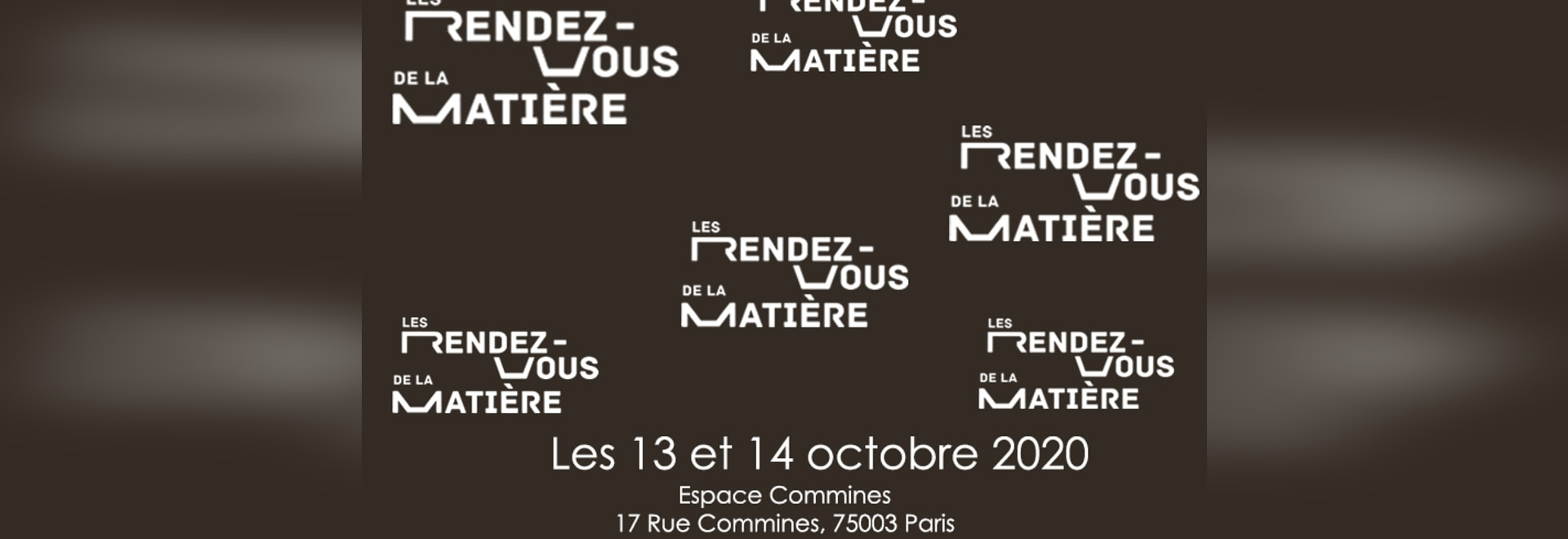 Fair RDV de la Matiere 13-14 october 2020 in France