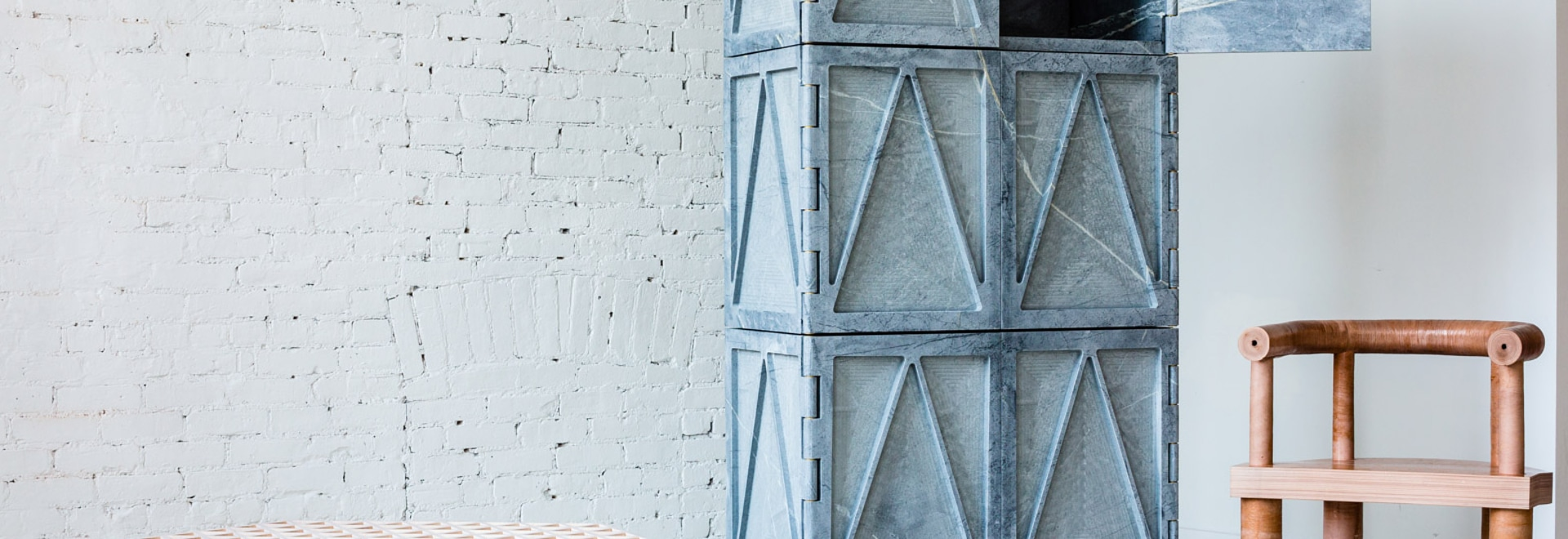 Fort Standard creates soapstone cabinet for material-focused collection