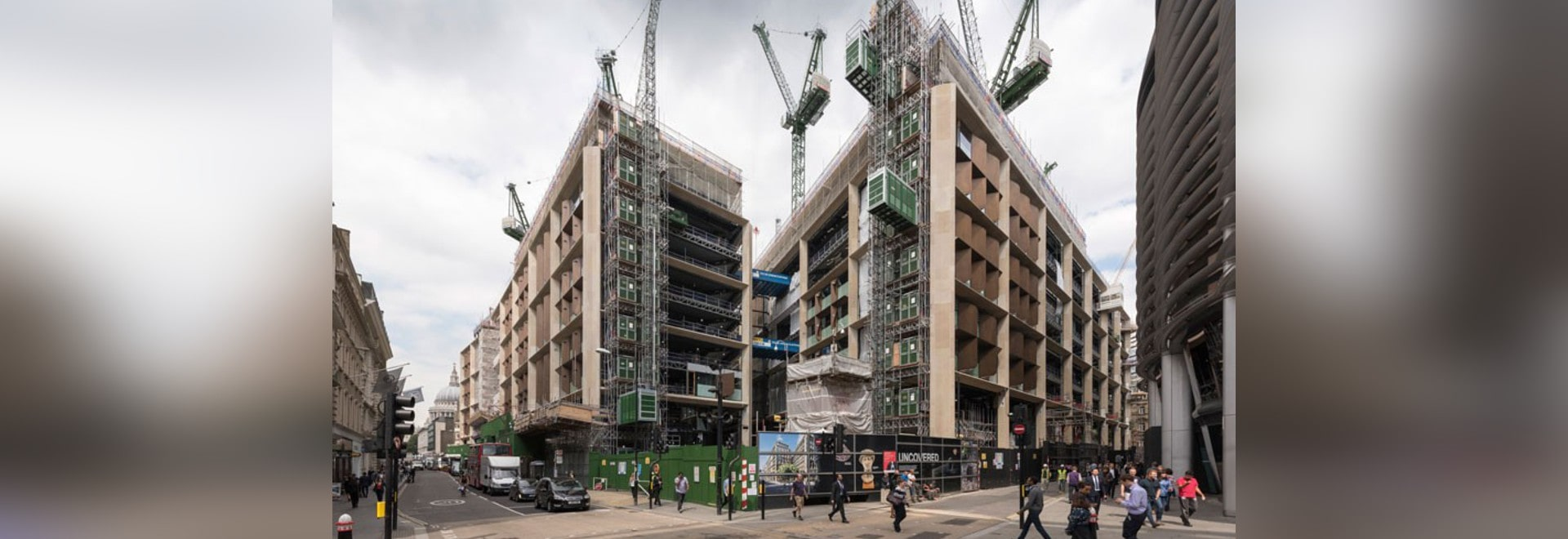 Foster + partners' bloomberg european HQ underway in central london
