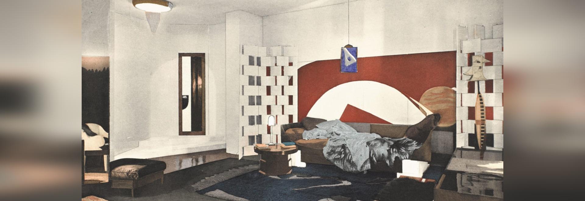 """Grey's 1923 """"model boudoir."""""""