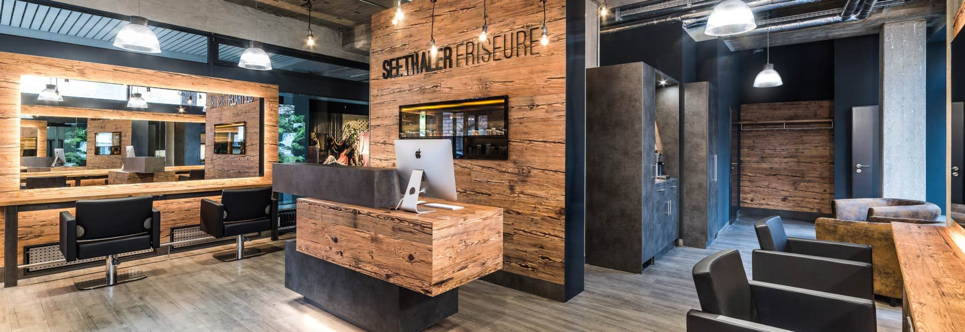 Hair Salon Design In A Reclaimed Wood Look 5092 Sankt Martin Bei Lofer Austria Sun Wood By Stainer