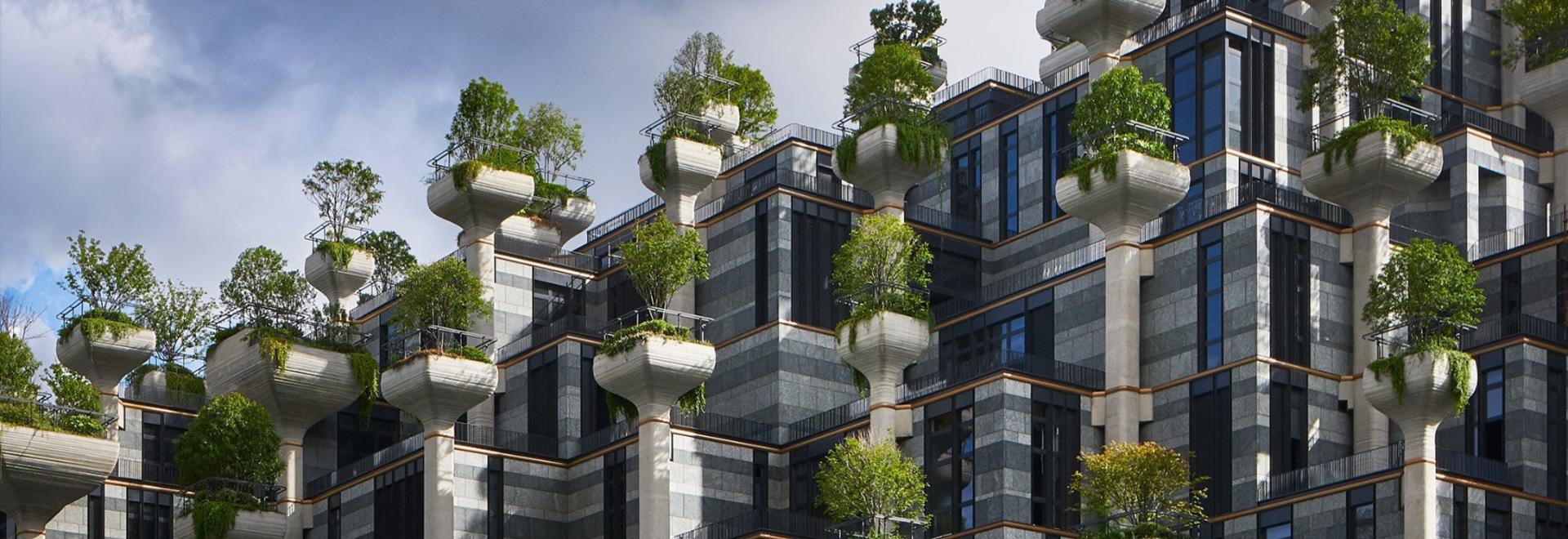 heatherwick studio's mixed-use '1000 trees' development takes shape in shanghai