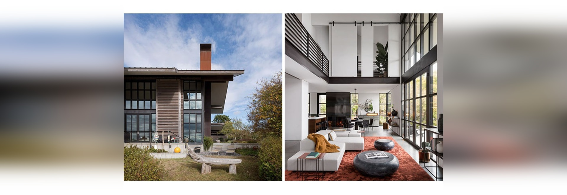 High Ceilings And Industrial Materials Are Prominent Design Elements In This New House