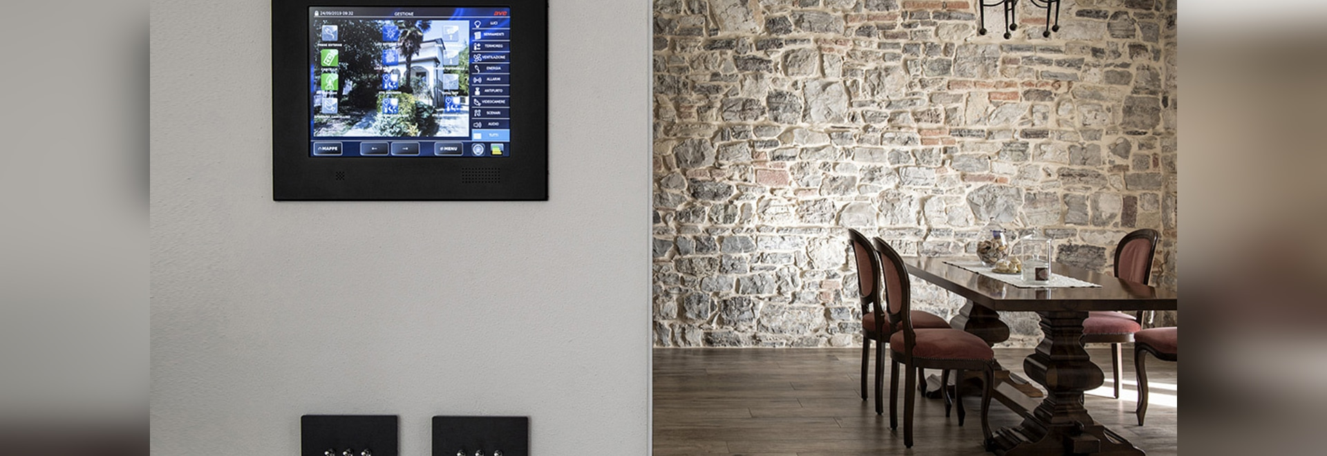 Home automation toggle controls are available in AVEbus and KNX versions