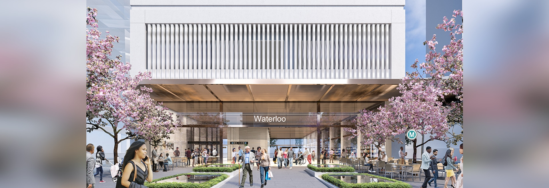 Indicative designs for the Waterloo Station development have been completed by Turner and Turf Design.
